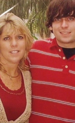 Debra Mayer with her son Shaun, who died at age 33 because of substance abuse.
