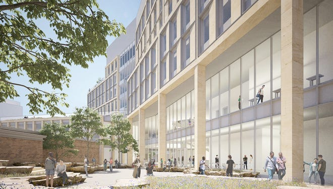 A rendering of UW-Madison's new building for the School of Computer, Data and Information Sciences.