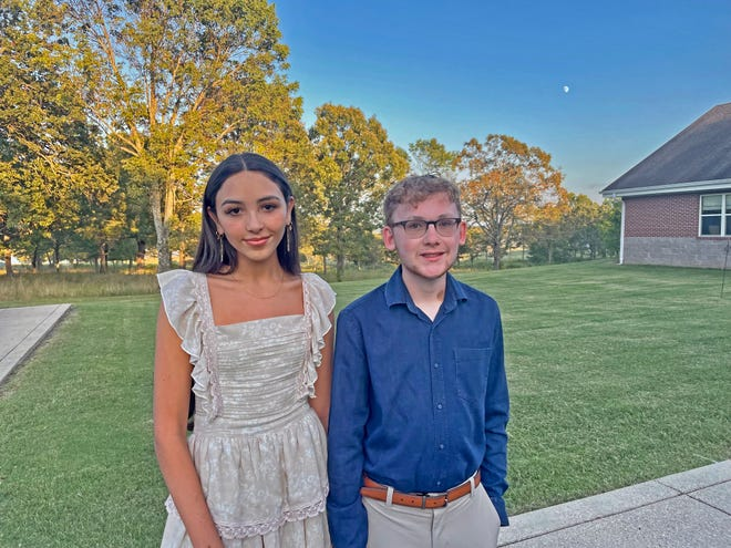 A photo of Emili Elkins and Ben Partney. Elkins and Partney are two of approximately 16,000 National Merit Semifinalists across the country.