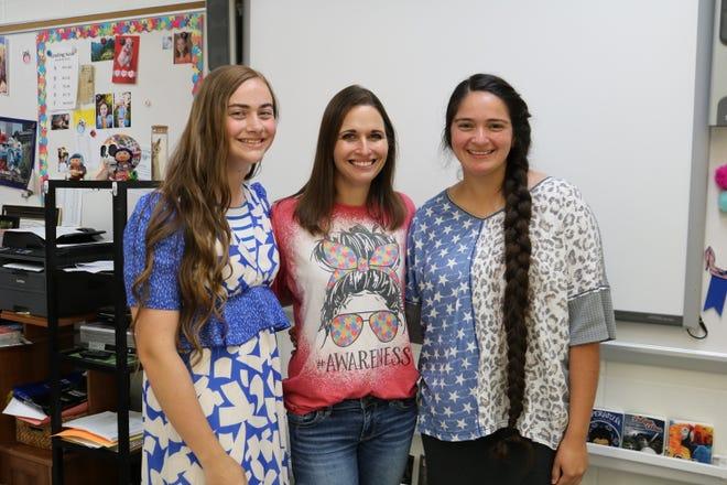 (De derecha a izquierda) Carrie Cromley, Bonnie Baxter y Ashley Rotten en West Ouachita High School