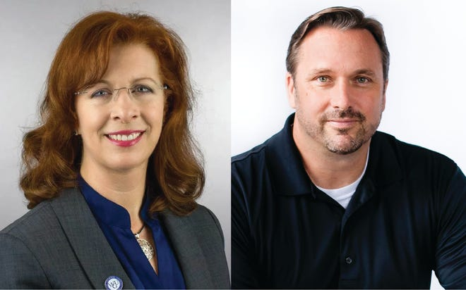 Kimberly K. Estep, left, is regional vice president for the southeast and Chancellor of WGU Tennessee, and Mark David Milliron, is senior vice president and executive dean of WGU Teachers College