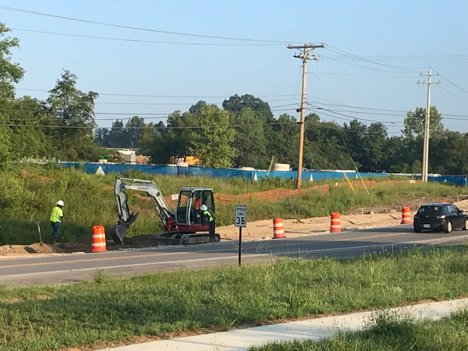 Road work is underway on Nonaville Road in Mt. Juliet.