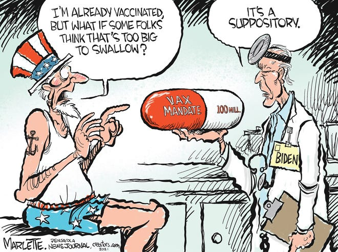 Andy Marlette cartoon -- Biden COVID suppository