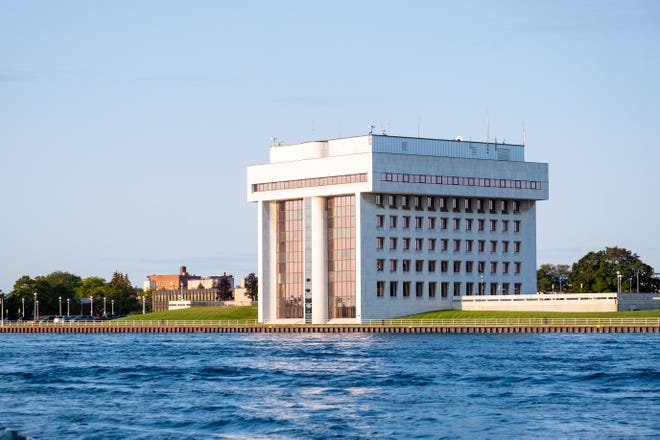 Port Huron's Municipal Office Center, 100 McMorran Blvd., on the St. Clair River in September 2021.