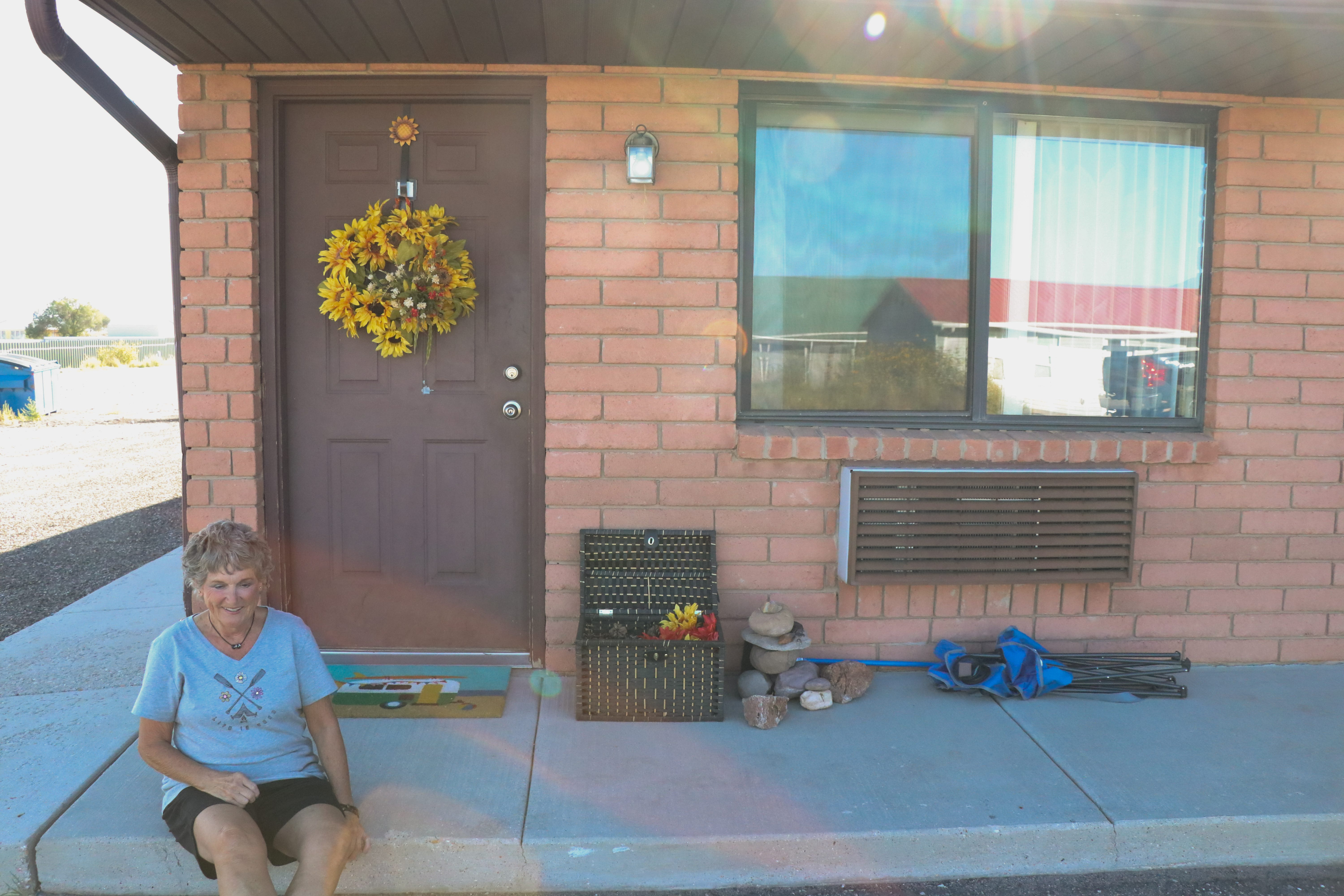 Cathy Coleman, 69, has been living in a motel miles outside of St. George since he hasn't been able to find any other affordable housing options.