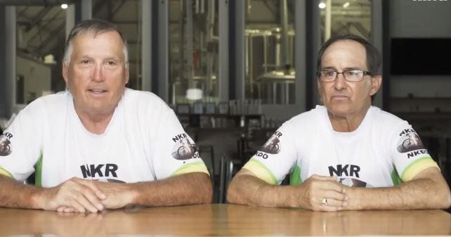 Mark Scotch (left) and Hugh Smith first met each other at Cane River Brewing in Natchitoches, Louisiana. Their conversation led to Scotch donating a kidney, and Smith receiving a kidney through the National Kidney Registry Voucher Program.