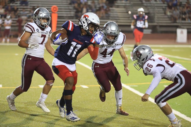 Tulare Western hosts Mt. Whitney on Sept. 17, 2021 in a non-league high school football game at Bob Mathias Stadium.