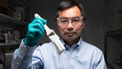 Xiulin Ruan, a Purdue University professor of mechanical engineering, and his students have created the whitest paint on record. ()