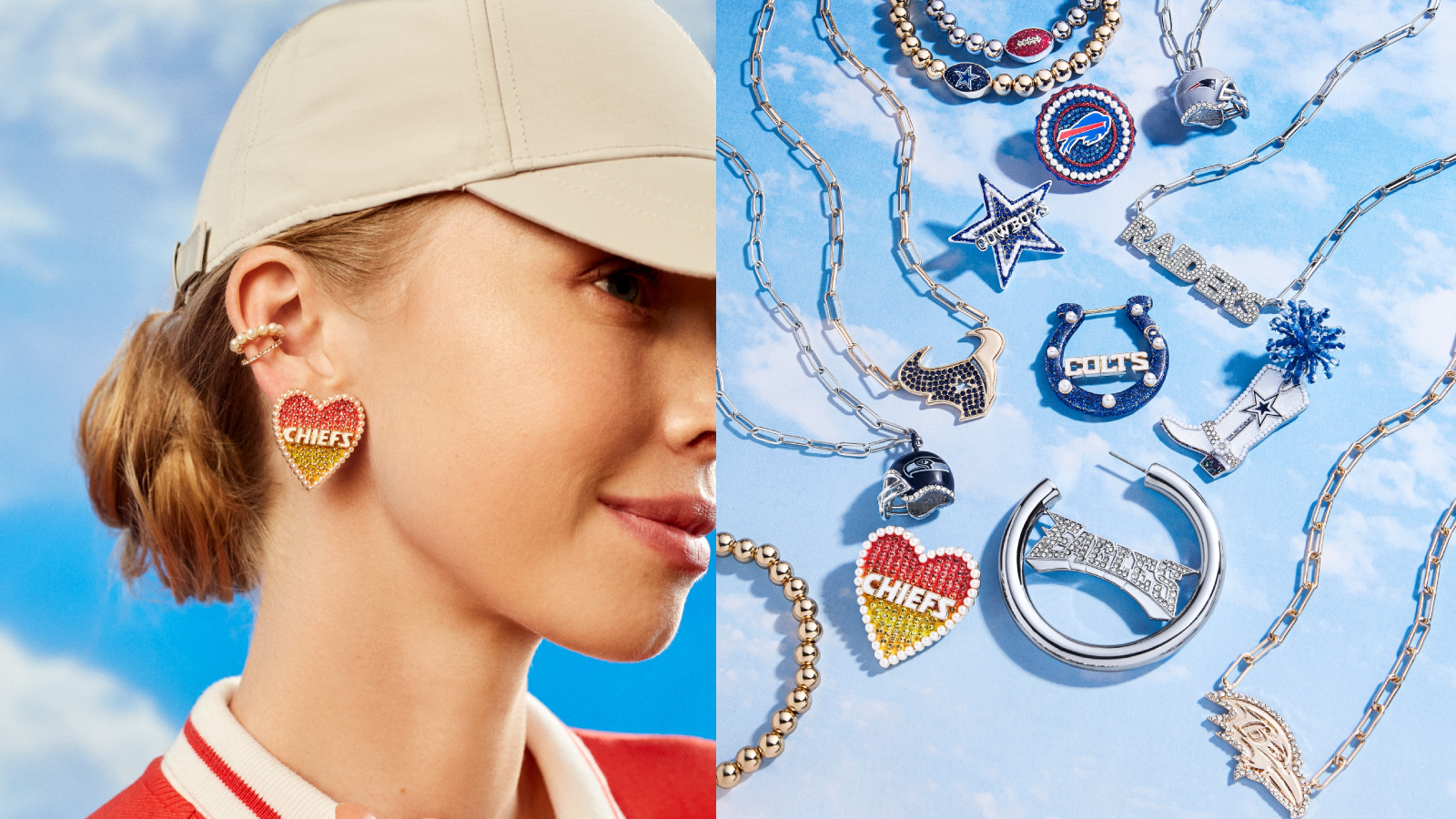 Baublebar and the NFL just released a line of football-themed jewelry—here's where to buy it
