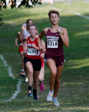 Woodridge's Izzy Best runs to a sixth place in the Division II Boardman Spartan Invitational cross country meet at Boardman Sept. 18.