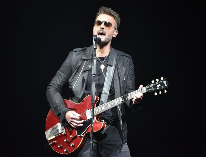 Eric Church performing in 2019. The country singer was the first music act in Nationwide Arena since March 2020.