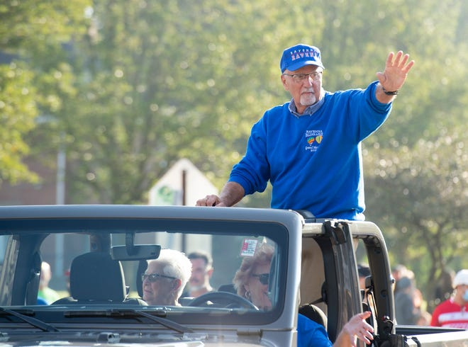 Mike Tontimonia, who recently was honored as grand marshal of the Ravenna Balloon A-Fair parade, is recovering from a heart attack.