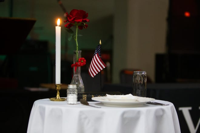 The VFW Post 6022 in Cottondale celebrated awards and held their recognition ceremony honoring those who are POW/MIA Friday, Sept. 17, 2021. [Staff Photo/Will McLelland]