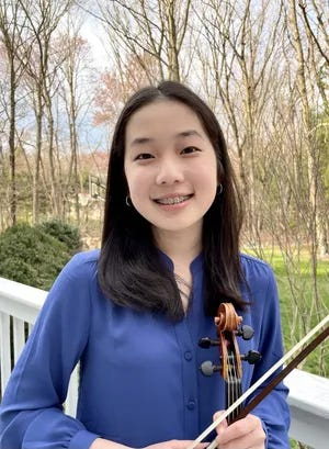 Ella Kim was awarded the Rising Youth Leadership Award in February 2021. Ella performs at nursing homes and senior centers, has taught third-grade orchestras after school, organized a benefit concert during the quarantine, and much more.