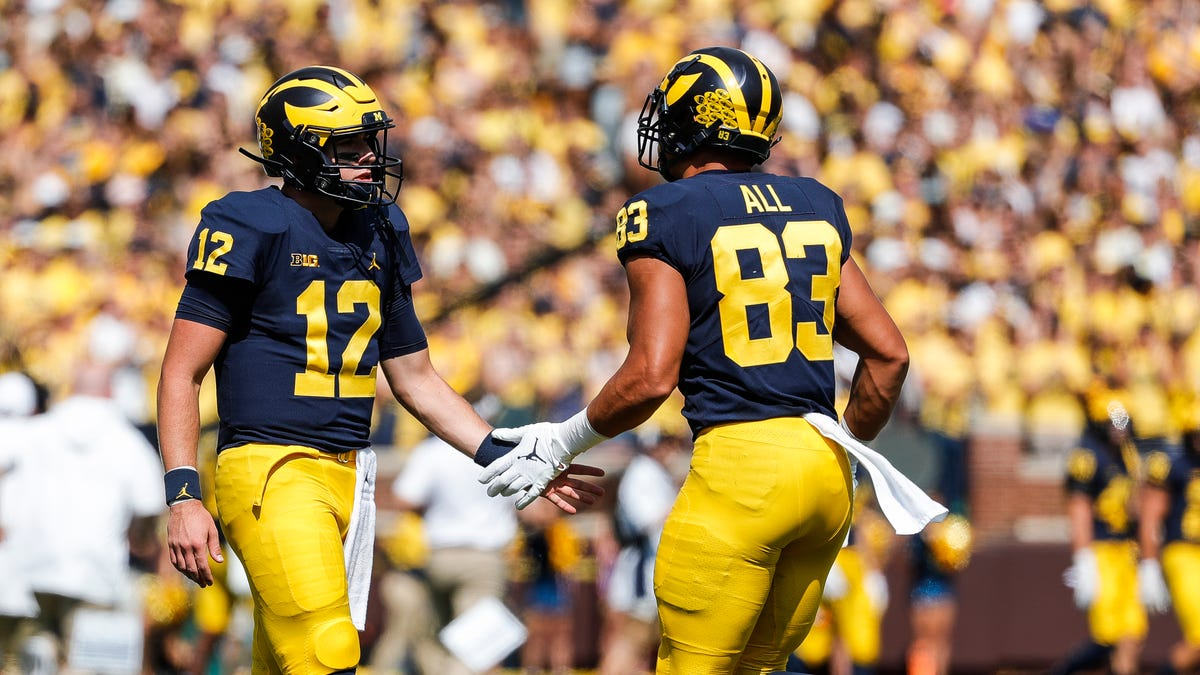 What did Michigan football QBs prove in rout of Northern Illinois?