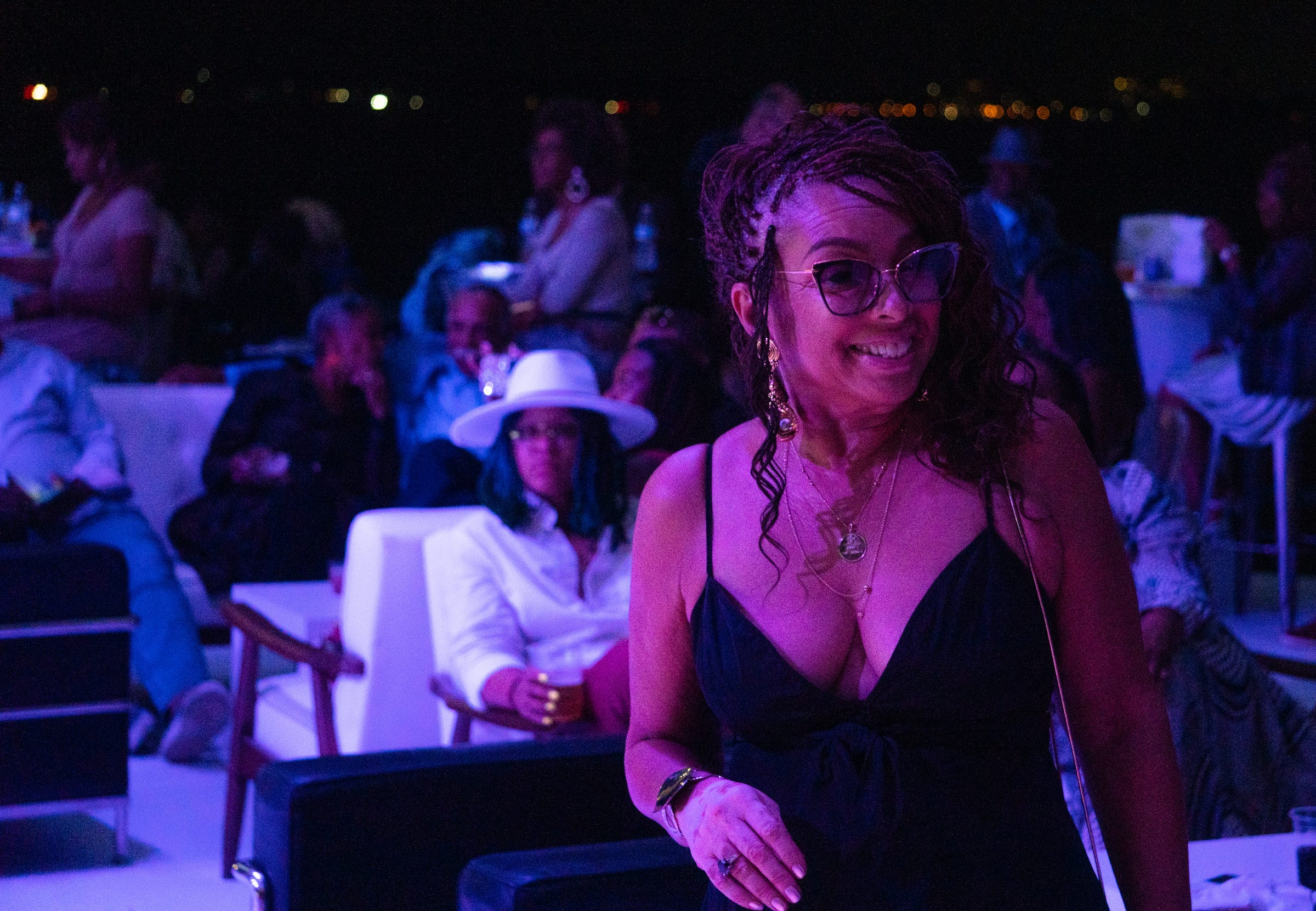 President of The Right Productions Shahida Mausi at the 25 years of business celebration of The Aretha Franklin Amphitheater on September 17, 2021.