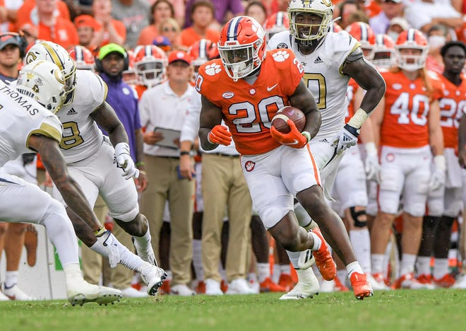 Kobe Pace, looking for yardage earlier this season against Georgia Tech, is now Clemson's No. 1 but largely unproven running back.