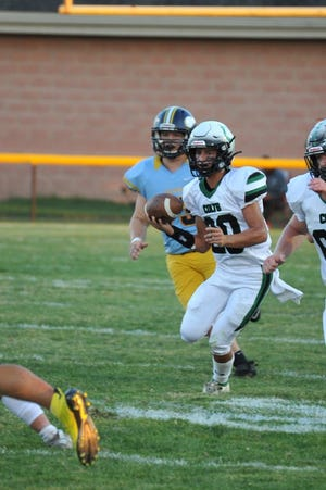 Clear Fork's Victor Skoog scrambles for a long run in a win over River Valley last week and takes his Colts into a huge MOAC matchup with Galion on Friday night.