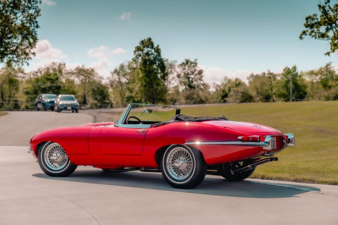 This 1966 Jaguar XKE convertible will be at Minerva Area Chamber of Commerce's Car Show, which will be held Sept. 25. The show is a fundraiser for Minerva's Roxy Theatre.