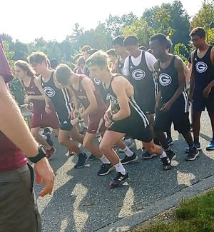 The start of the boys' race against Leicester on Sept. 15.