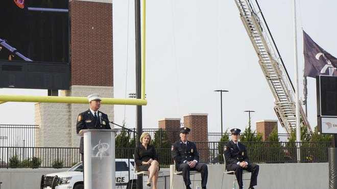 A 9/11 ceremony ceremony was a combined effort between Prosper ISD and the Prosper first responders.
