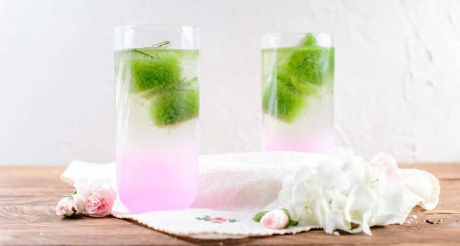 Cucumber Rosemary Ice Cubes