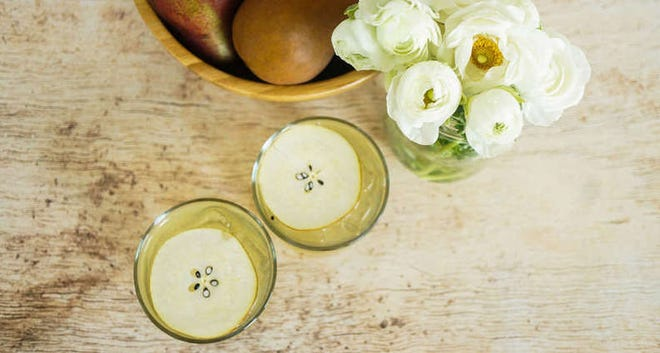 The Pear-fect Chamomile Cooler