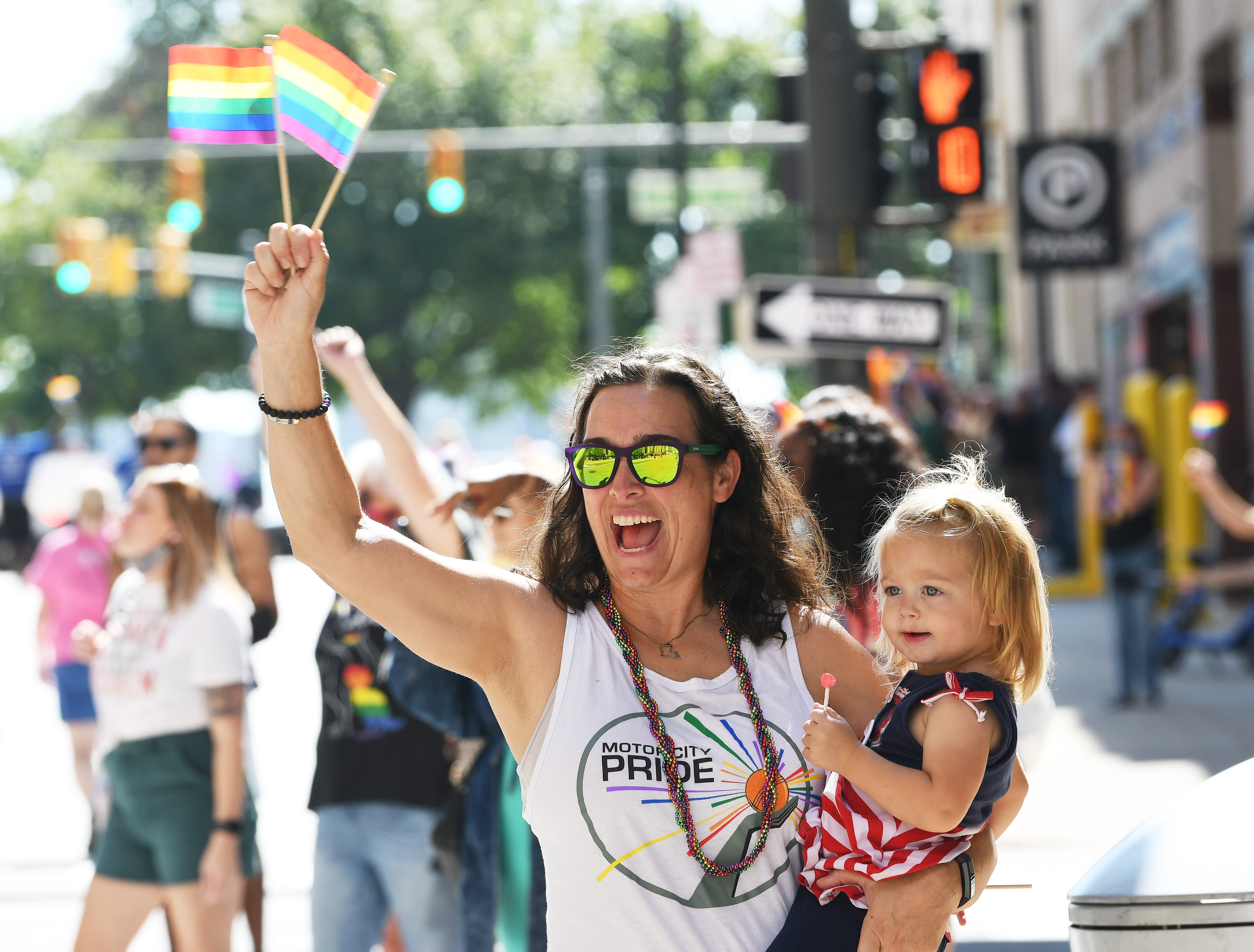 'We stand tall': Michiganians march again at Motor City Pride following hiatus