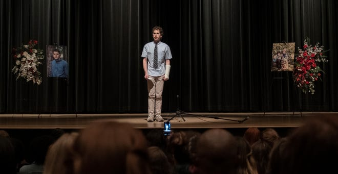 "Ben Platt finds himself at center stage under false pretenses in ""Dear Evan Hansen."""