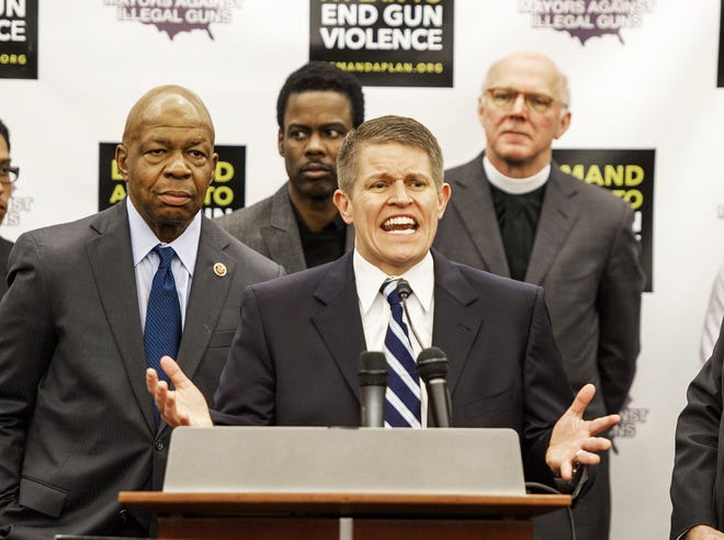 Former ATF Special Agent David Chipman delivers remarks during a press conference February 6, 2013 on Capitol Hill in Washington, D.C. Mayors Against Illegal Guns and the Law Center to Prevent Gun Violence held a news conference to call on Congress to act on U.S. President Barack Obama's plan to reduce gun violence, including background checks for all gun sales and an assault weapons ban. (Paul J. Richards/AFP/Getty Images/TNS)