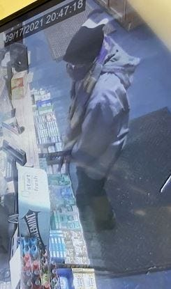 Southern Regional Police released this surveillance photo of a robber at Choice Cigarette Outlet in Shrewsbury.