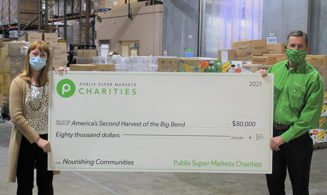 Publix donated $80,000 to Second Harvest of the Big Bend.