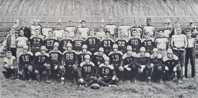 Barnesville High's first championship football team was the 1936 team that played in the new stadium at Laws Street. Early teams played at the Barnesville Fairgrounds racetrack of what is now Memorial Park.The '36 squad was Co-League Champs of the East Ohio Athletic League sporting a record of 8-0-1 with a combined total of 118 points to opponents 27. There were four shutouts and a 0-0 tie with Adena.Schools that the Red and Green beat that year were Powhatan Point, Yorkville, Dillonvale, Cadiz, Dennison, St. Clairsville, Caldwell and Woodsfield.