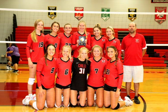 The 2021 Chillicothe High School volleyball Lady Hornets, coached by Bob Long, earned the second-place plaque in their own tournament Saturday, Sept. 18.