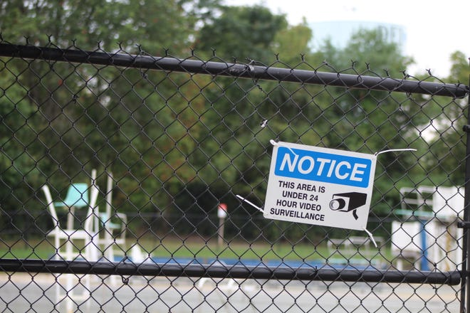 Vandals broke bathroom doors and caused other damage over the weekend at the Powell Pool.