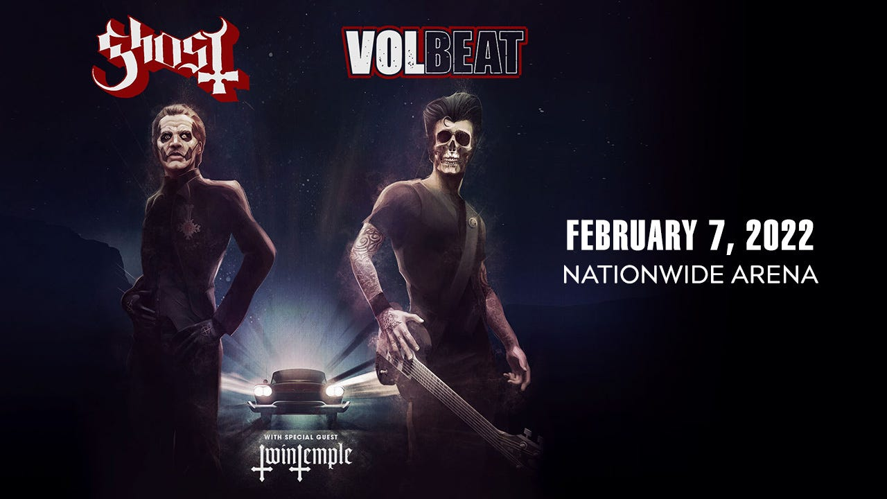 Bands Ghost, Volbeat to co-headline concert at Nationwide Arena for 2022 U.S. tour