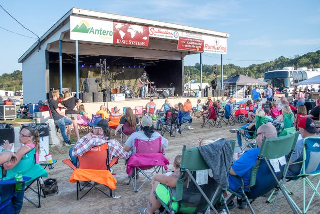 Crowds start to fill the infield during the Just A Kid From Ohio music festival.