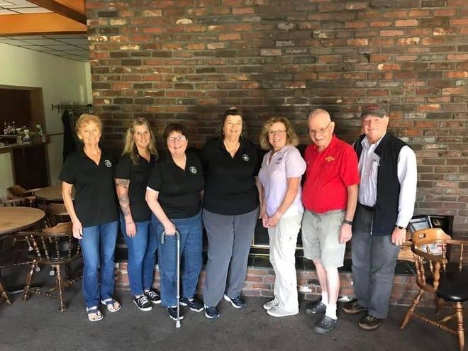 Vouchers for Veterans left to right: Dale Labrecque, Kelly O'Neil, Jackie Fitzpatrick, Jeanne Grover, Linda Goodreau (ElksTrustee), Ken Brown (Elks Esquire), and Dan Fitzpatrick.