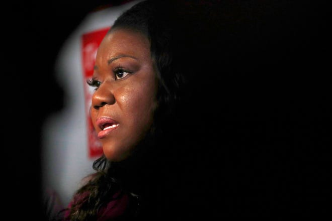 Sybrina Fulton announces her run for the District 1 seat of the Miami-Dade (Fla.) Board of County Commissioners on Monday, May 20, 2019, in Miami Gardens, Fla. Fulton is the mother of Trayvon Martin, who was unarmed when shot dead by neighborhood watch volunteer George Zimmerman. The latter was later acquitted on grounds of self-defense. His death sparked the Black Lives Matter movement.