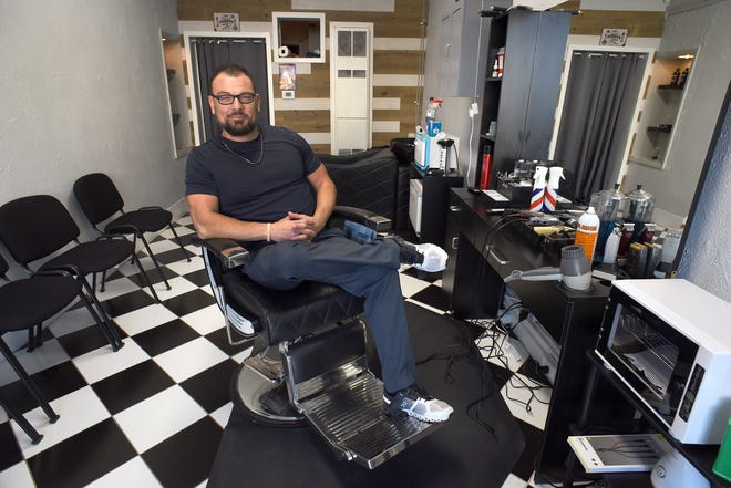 """John """"JB"""" Burden is the owner of JB's Barbershop, a new shop located at 123 S. Monroe St. in downtown Monroe."""