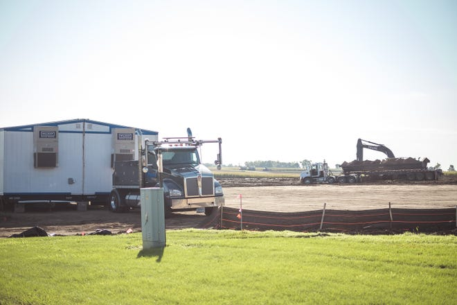 Construction officially began last week on the Montevideo Veteran's Home project located on William Avenue. At the groundbreaking ceremony in August, representatives noted that the goal is to complete construction in about 18 months.