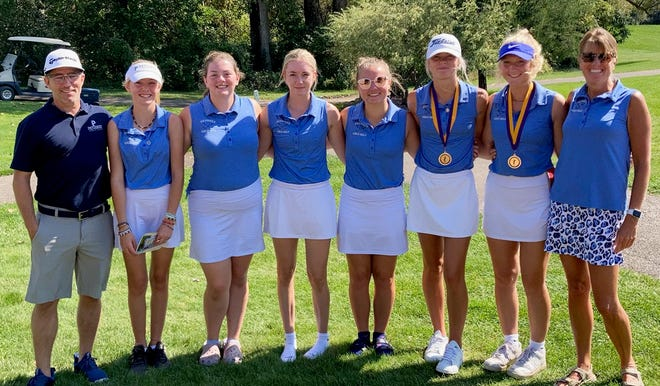 The Petoskey girls golf team carded a new season low round while at Greenville Friday, with a pair of golfers also earning top 10 finishes on the day.