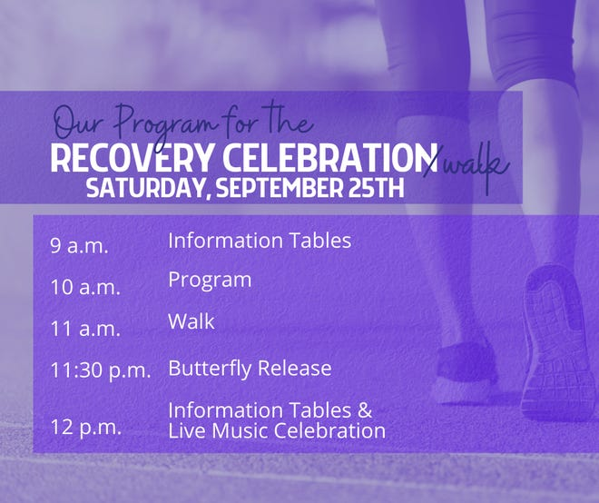 The Recovery Celebration will take place Sept. 25, 2021, from 9 a.m. to 1 p.m. at East Stroudsburg University.