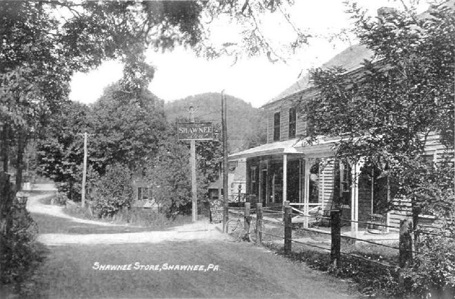 Shawnee General Store, in the days when more wooden utility poles populated the streets than did people.