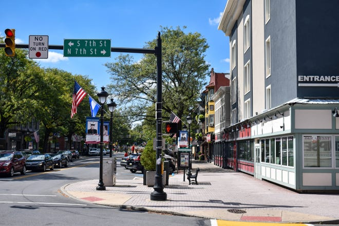 The 600 block of Main St. in Stroudsburg as seen from the North 7th Street intersection on Monday, Sept. 20, 2021.