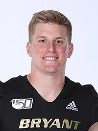 Bryant linebacker Ryan Saddler had 12 tackles, 10 solo, during Saturday's 35-14 loss at Akron.