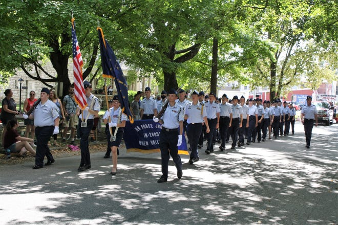 The Owen Valley High School JROTC had the honor of being this year's flag bearers for the Apple Butter Festival in Spencer. More photos from the parade will be featured this week in the Spencer Evening World.