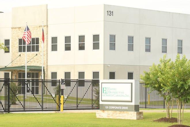 Empire Distributors of North Carolina Inc. inside Pender Commerce Park off Hwy. 421.