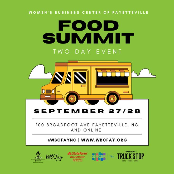 The two-day food summit will be held in Fayetteville on Sept. 27 and 28.