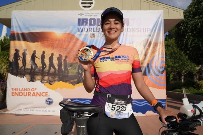 New Philadelphia native Vanessa Wagner finished the IRONMAN 70.3 World Championship held in St. George, Utah on Saturday in 6:48:33.